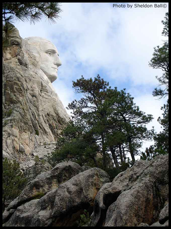 photo of George Washington monument at Mount Rushmore in South Dakota - Photo by Sheldon Ball