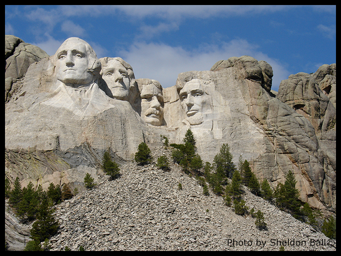 photo of Mount Rushmore monument in South Dakota - Photo by Sheldon Ball