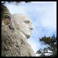 thumbnail pic of George Washington monument on Mount Rushmore