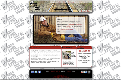 screen capture of Tom Cole website design by Sheldon Ball of LeadOn Consulting